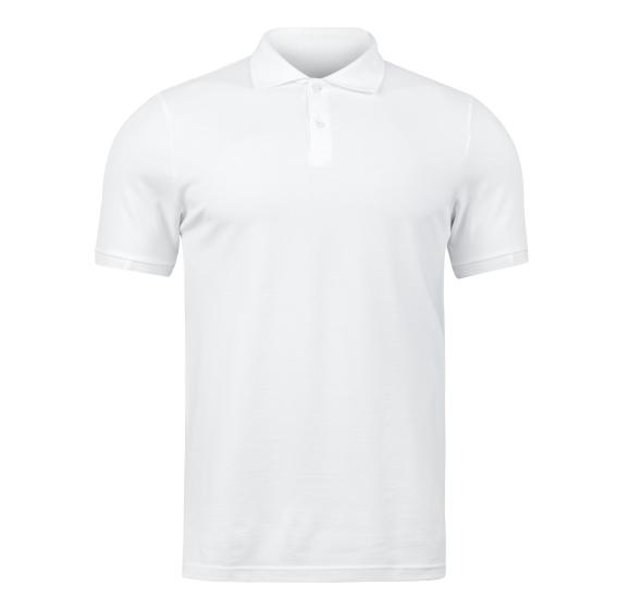 biała koszulka polo fruit of the loom